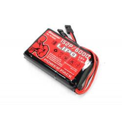 Batterie LIpo 1S2P 6000 mA